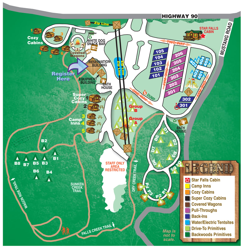 Falls Creek Campground Map