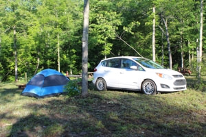 Drive-to primitive tent site