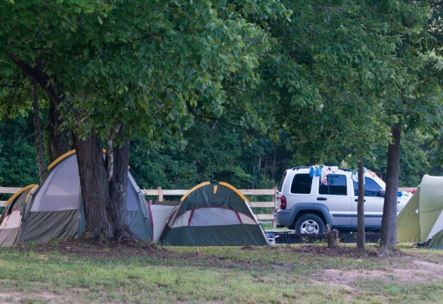Tents at Water and Electric Tent Sites
